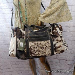 FIRM Myra Bag cowhide leather duffel black New